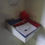 Pupitre et stockage des cahiers de chaufferie